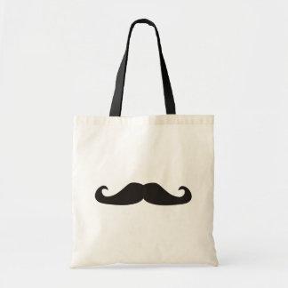 Retro gentelman mustaches illustration tote bag