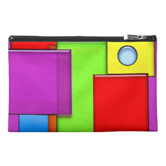 Retro Geometric Blocks Modern Art Travel Bags