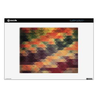 "Retro Geometric Bold Stripes Worn Colors 12"" Laptop Skins"