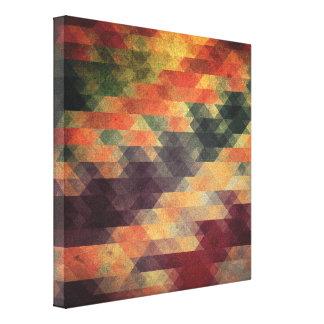 Retro Geometric Bold Stripes Worn Colors Canvas Print