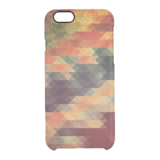 Retro Geometric Bold Stripes Worn Colors Clear iPhone 6/6S Case