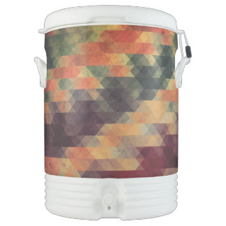 Retro Geometric Bold Stripes Worn Colors Cooler