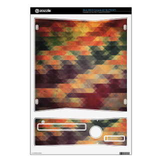 Retro Geometric Bold Stripes Worn Colors Decal For Xbox 360 S