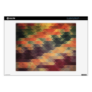 Retro Geometric Bold Stripes Worn Colors Decals For Laptops