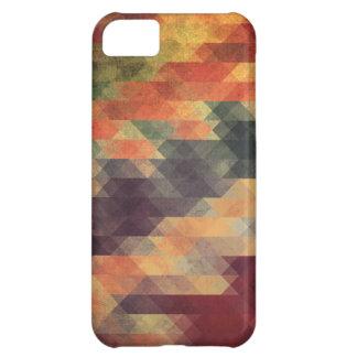 Retro Geometric Bold Stripes Worn Colors iPhone 5C Case