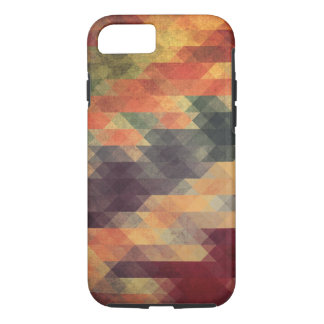 Retro Geometric Bold Stripes Worn Colors iPhone 7 Case