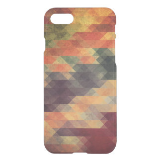 Retro Geometric Bold Stripes Worn Colors iPhone 8/7 Case