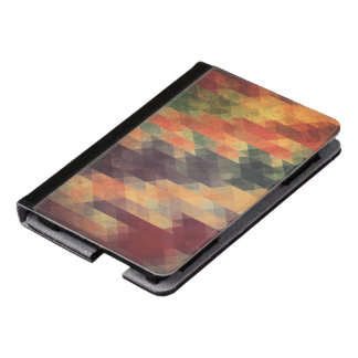 Retro Geometric Bold Stripes Worn Colors Kindle Case