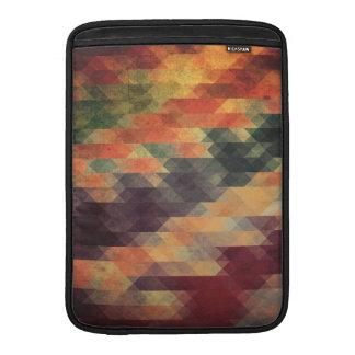 Retro Geometric Bold Stripes Worn Colors MacBook Air Sleeve
