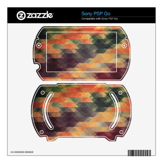 Retro Geometric Bold Stripes Worn Colors Decal For The Sony PSP Go