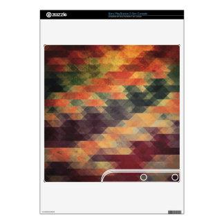 Retro Geometric Bold Stripes Worn Colors Skin For The PS3 Slim