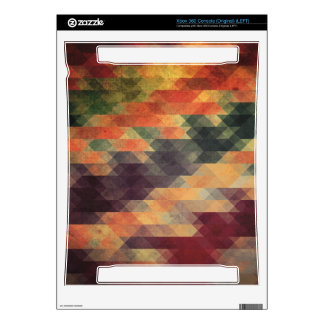 Retro Geometric Bold Stripes Worn Colors Skin For The Xbox 360