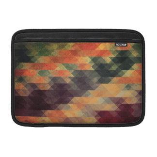 Retro Geometric Bold Stripes Worn Colors Sleeve For MacBook Air