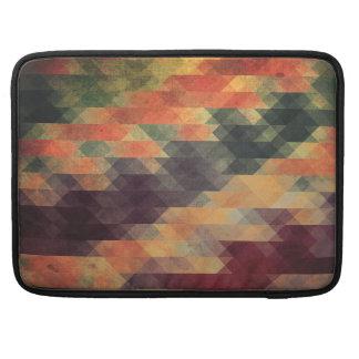 Retro Geometric Bold Stripes Worn Colors Sleeve For MacBook Pro