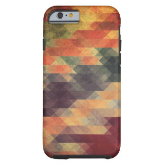 Retro Geometric Bold Stripes Worn Colors Tough iPhone 6 Case