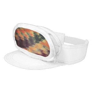 Retro Geometric Bold Stripes Worn Colors Visor
