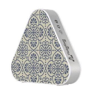 Retro geometric floral ornamental pattern bluetooth speaker
