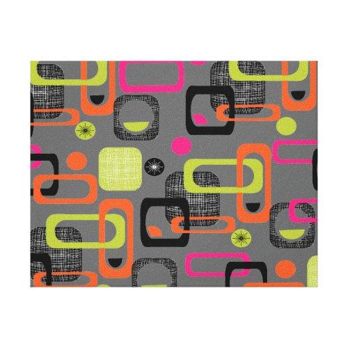 Retro Geometric Funky Graphic Design Canvas Print