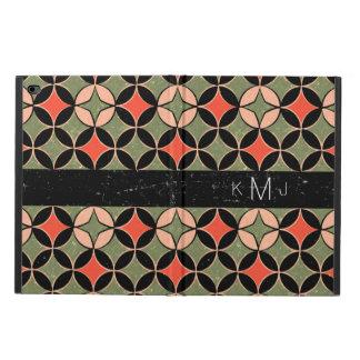 Retro Geometric Monogram iPad Case