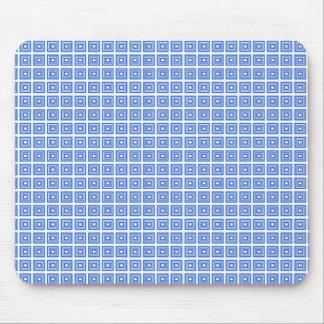 Retro Geometric Mousepad, Royal Blue Mouse Pad