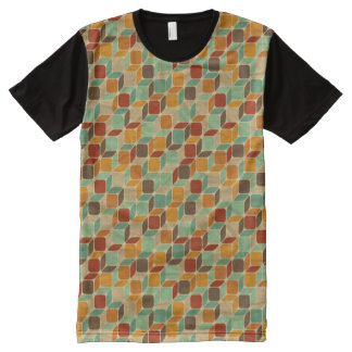 Retro geometric pattern 4 All-Over print t-shirt
