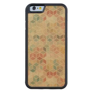 Retro geometric pattern 5 carved maple iPhone 6 bumper case