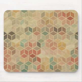 Retro geometric pattern 5 mouse pad