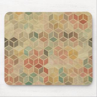 Retro geometric pattern 5 mouse pad
