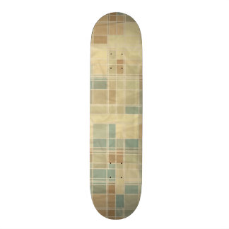 Retro geometric pattern skateboard deck