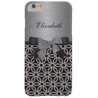 Retro Geometric print on Faux metal iPhone 6 Case