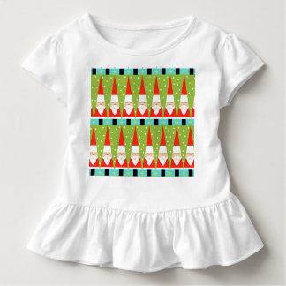Retro Geometric Santa Toddler Ruffle T-Shirt