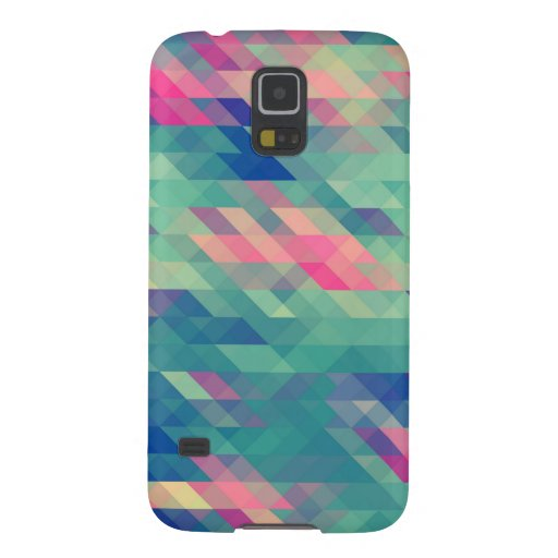 Retro Geometric Triangles Pattern Galaxy Case Galaxy S5 Cases