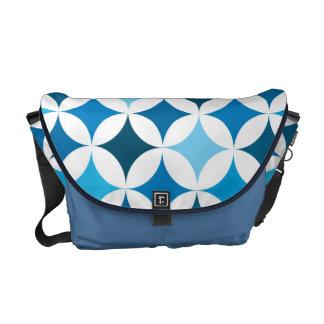 Retro geométrico moderno sea azul bolsas de mensajeria