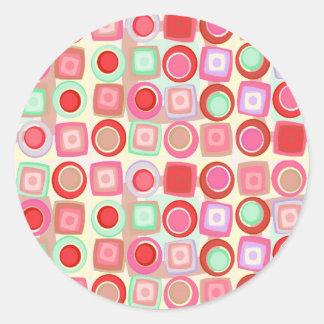 Retro Geometrics Sticker