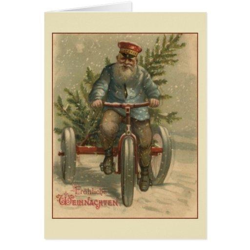 retro german fr hliche weihnachten christmas card zazzle. Black Bedroom Furniture Sets. Home Design Ideas