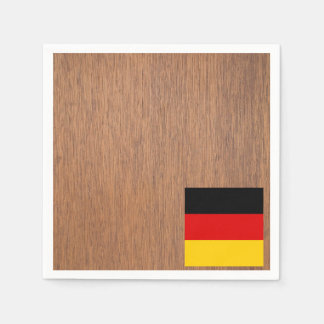 Retro Germany Flag Paper Napkin