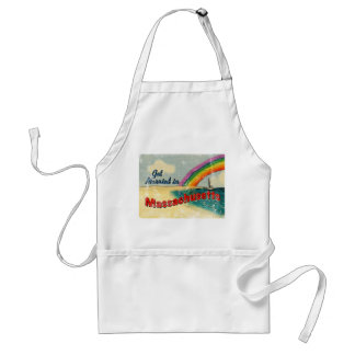 Retro Get Married in Massachusetts Adult Apron