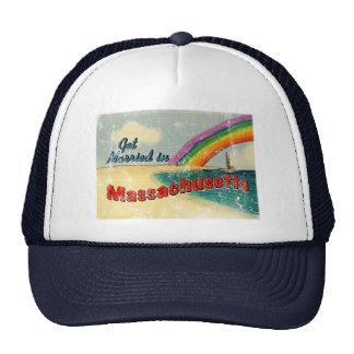 Retro Get Married in Massachusetts Trucker Hat