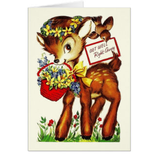 Retro Get Well Greeting Card