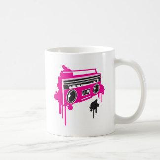retro ghetto blaster stereo design coffee mug