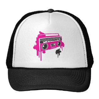 retro ghetto blaster stereo design hats