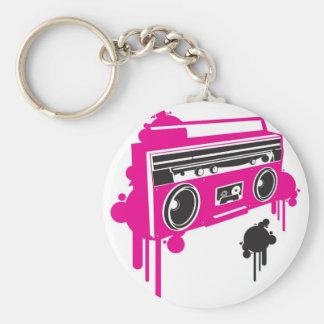 retro ghetto blaster stereo design keychain