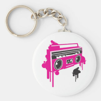 retro ghetto blaster stereo design key chains