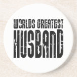 Retro Gifts for Husbands World's Greatest Husband Beverage Coaster