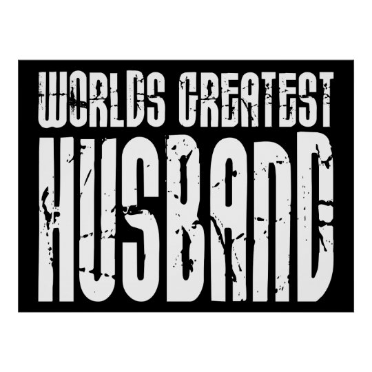 Retro Gifts for Husbands World's Greatest Husband Poster