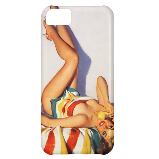 Retro Gil Elvgren Telephone Pinup girl iphone case Cover For iPhone 5C