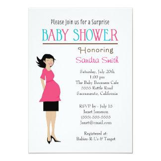 Retro Girl Baby Shower Invitation