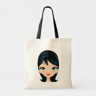 Retro Girl Tote Bags
