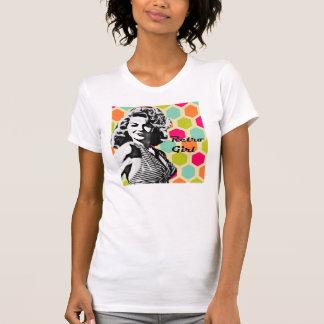 Retro Girl Bold Hair T-Shirt