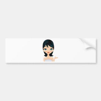 Retro Girl Bumper Sticker